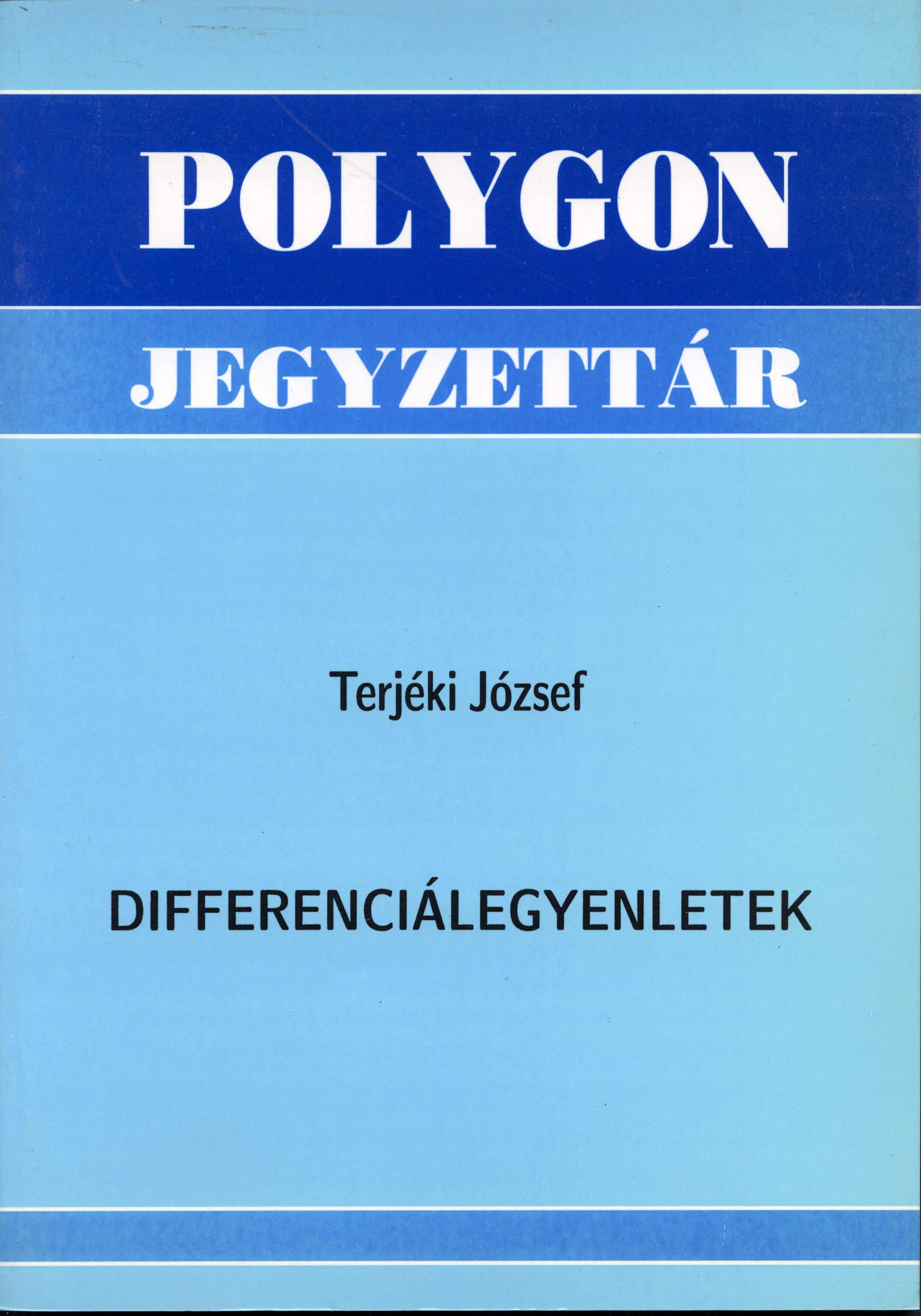 Differenciálegyenletek - Polygon jegyzet