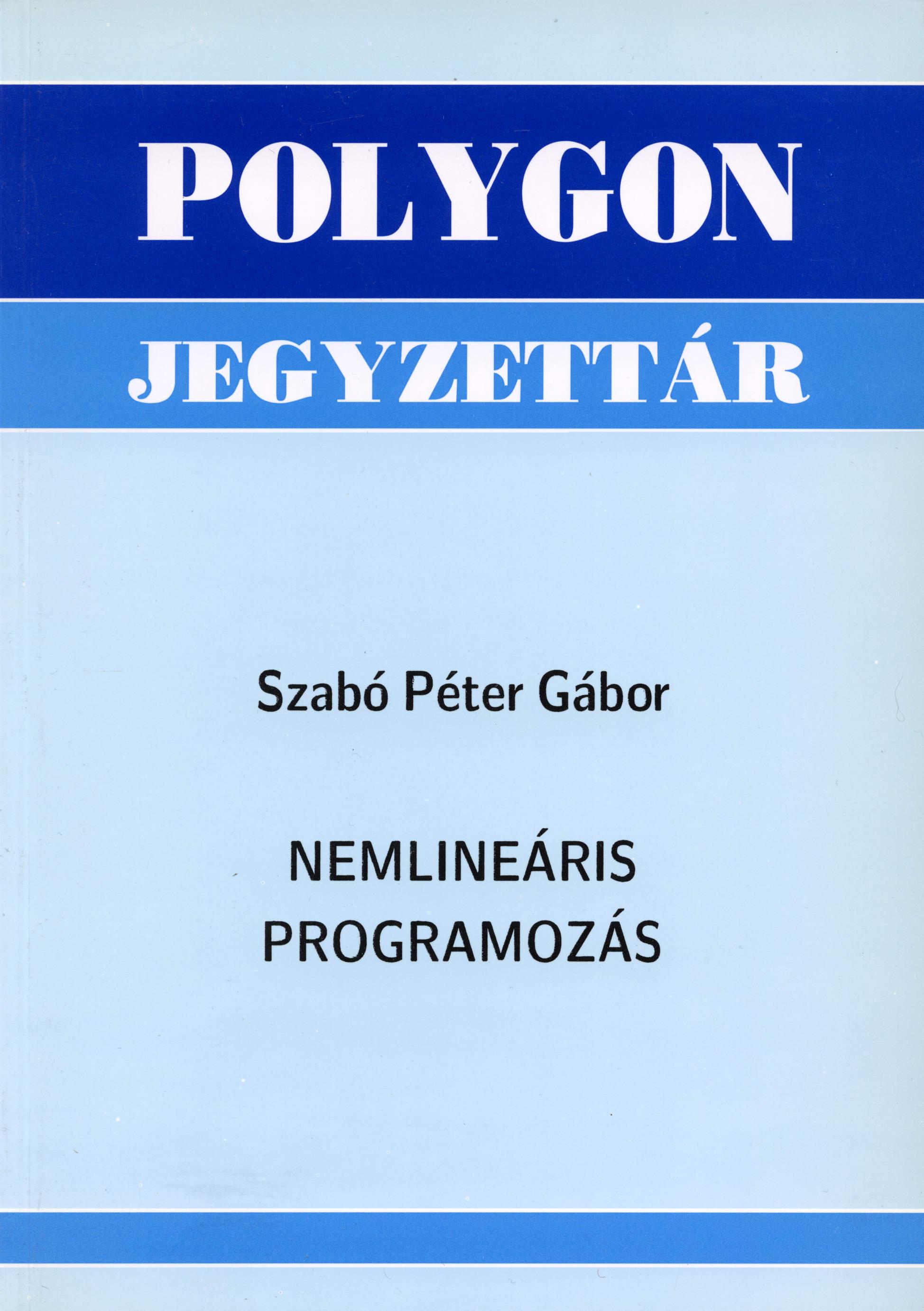 Nemlineáris programozás - Polygon jegyzet