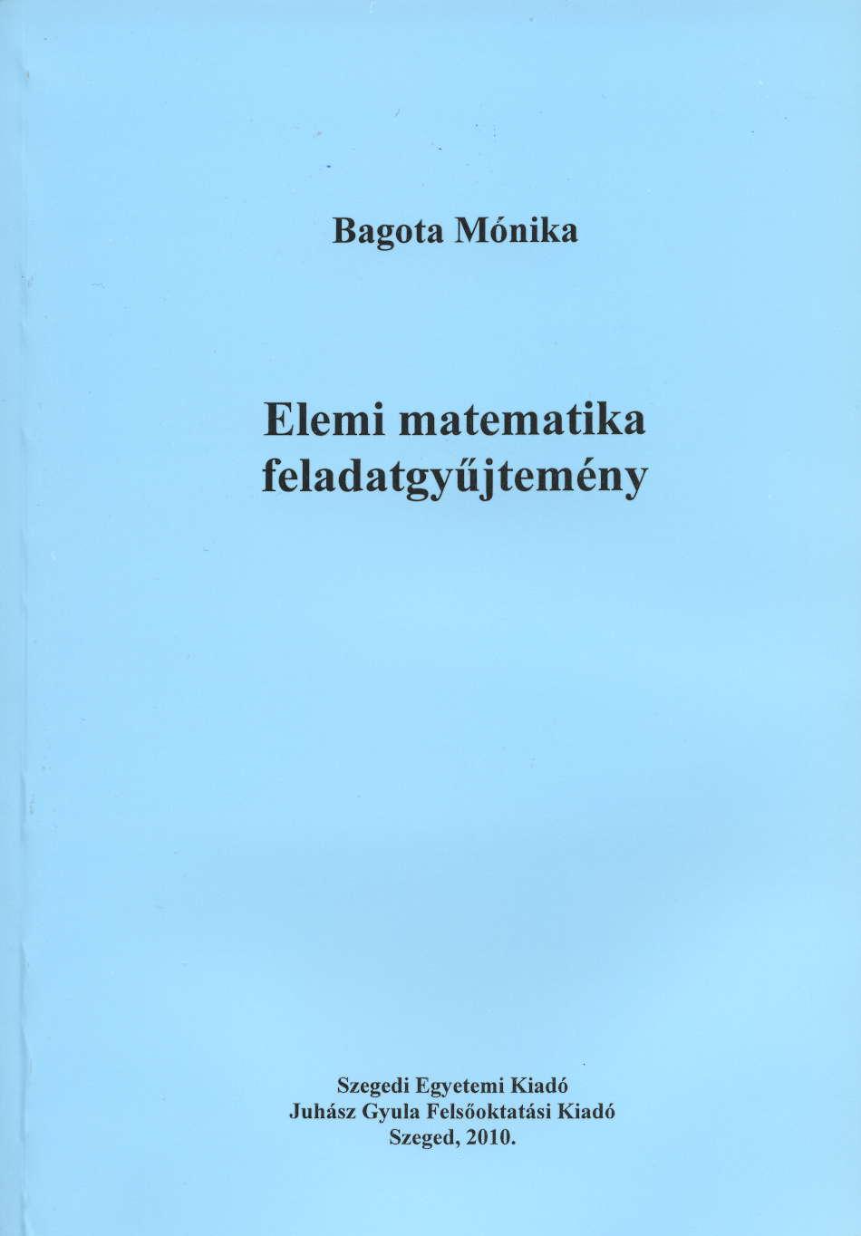 Elemi matematika feladatgyűjtemény - JGYFK