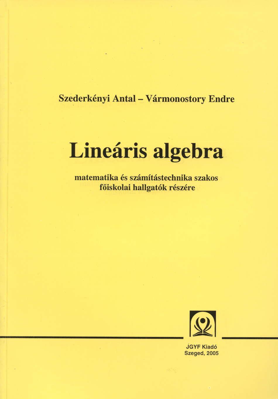 Lineáris algebra - JGYFK