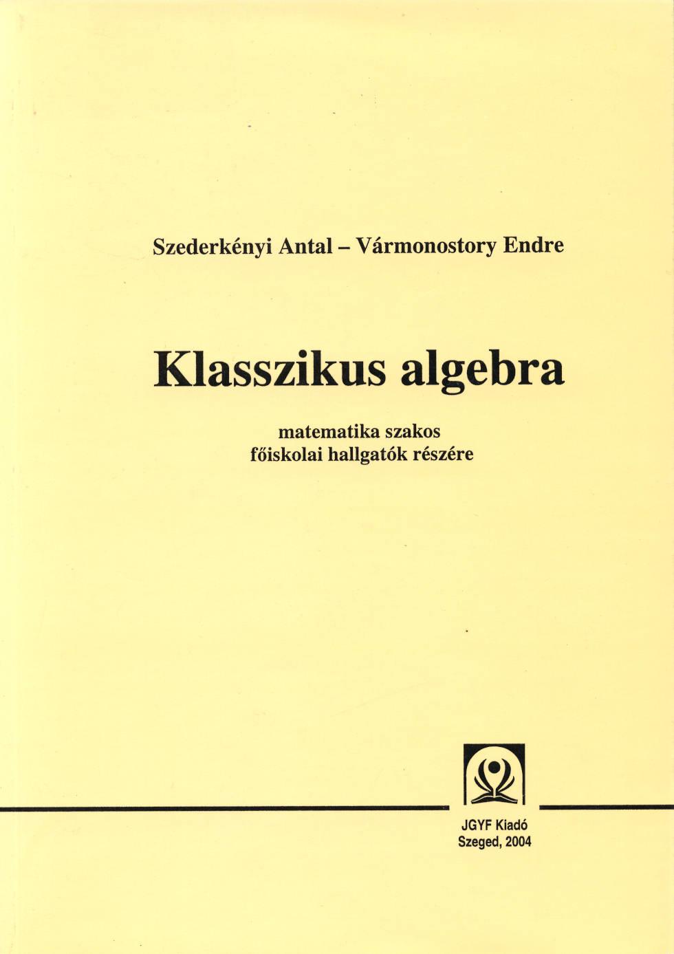 Klasszikus algbera - JGYFK